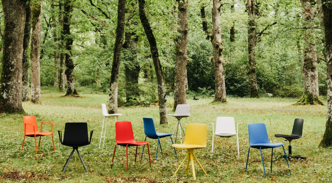 Lottus Collection chairs with different colors