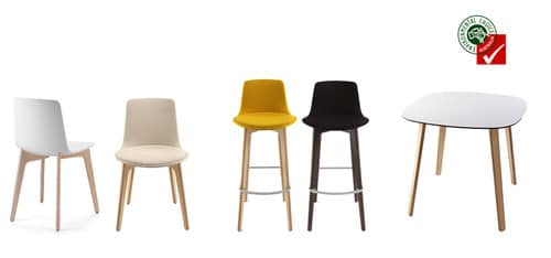 Lottus wood chair by enea design lievore altherr molina - The Wood Of The Lottus Wood Range From Sustainable