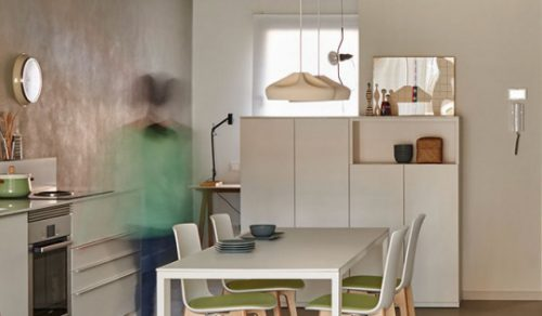 Lottus Wood High en una cocina eficiente — Enea Design