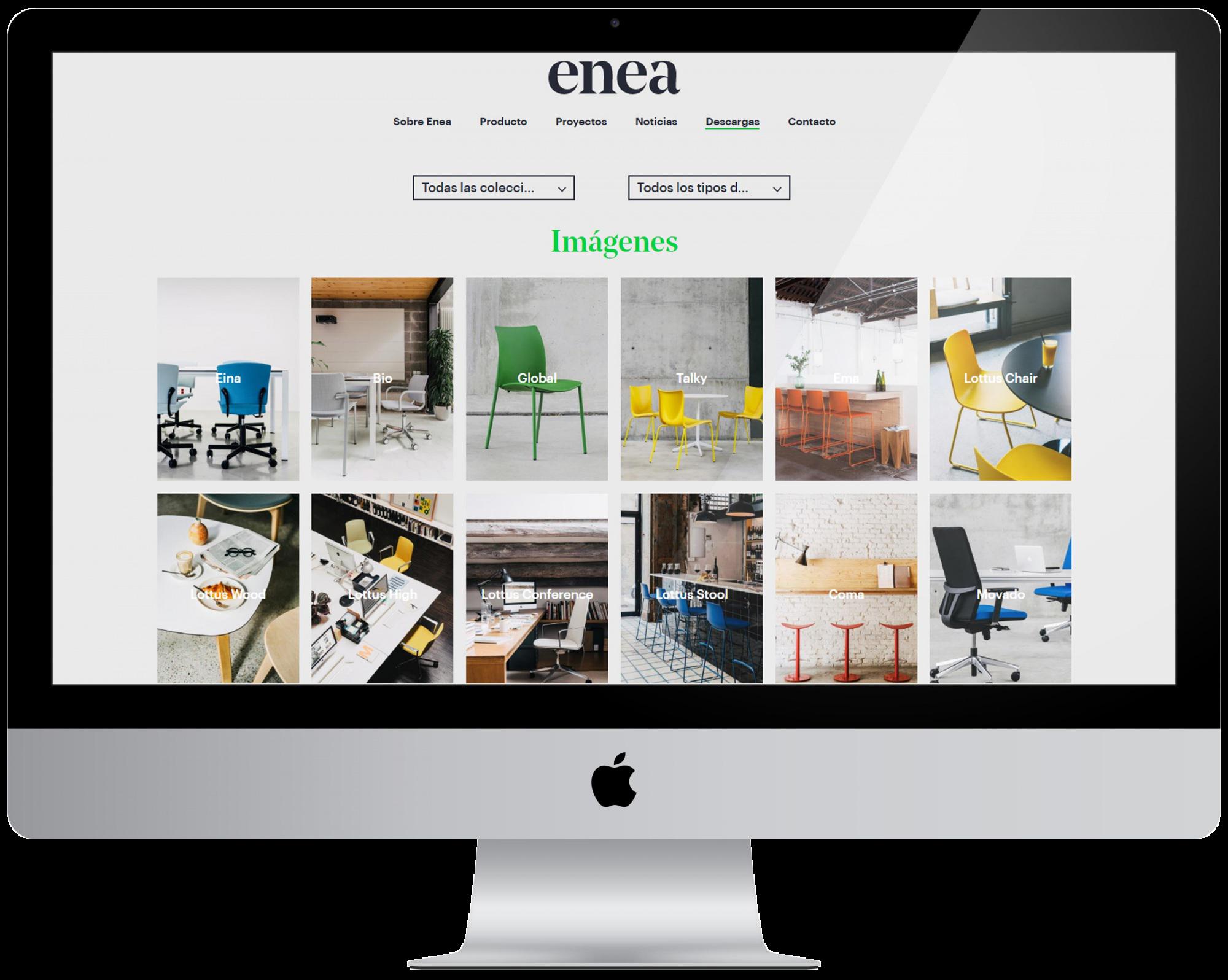 Zona de descargas nueva enea design web