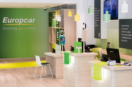 Europcar worldwide's new retail concept furnished with Enea seats — Enea Design