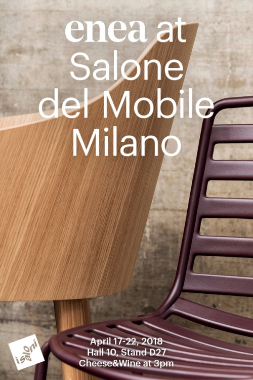 Everything ready for the Salone del Mobile.Milano 2018 — Enea Design