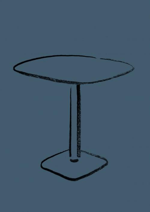 work in progress caddy table enea design