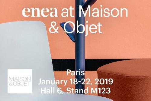 Enea presenta nuevas propuestas de mobiliario en Maison&Objet 2019 — Enea Design