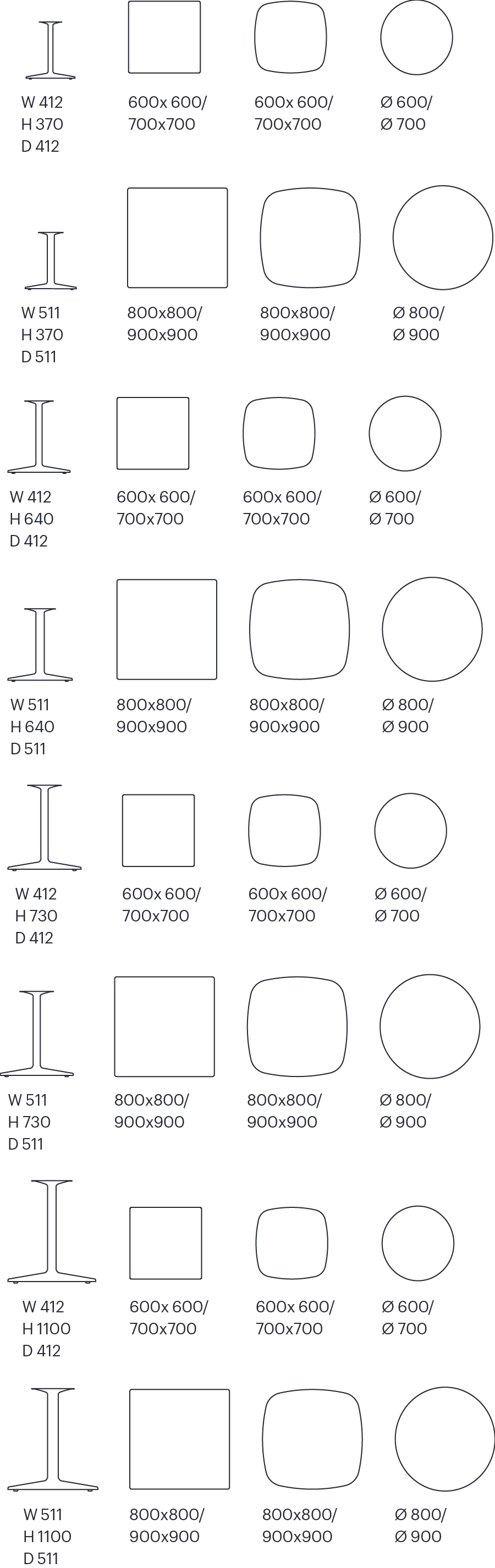 Dimensiones Mesa Iron