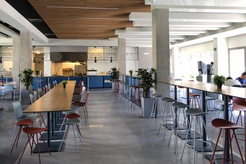 Sillas y taburetes de Enea en el corazón del campus de la UMA — Enea Design