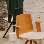 Lottus Wood spin chair