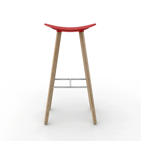 Barstool Coma Wood Enea Design 2016 nordic style high red  sc 1 st  Enea & Coma Wood the new ENEAu0027s nordic stool islam-shia.org