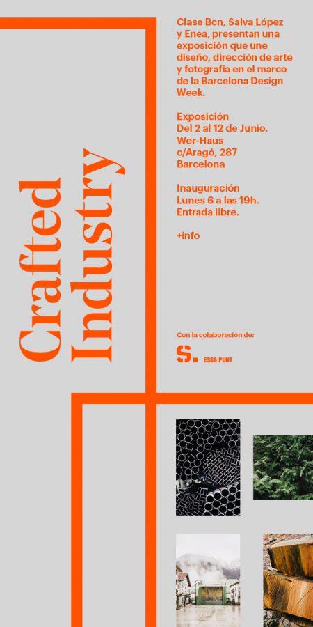 """Exposición """"Crafted Industry"""", una colaboración entre ENEA, Clase Bcn y Salva López — Enea Design"""