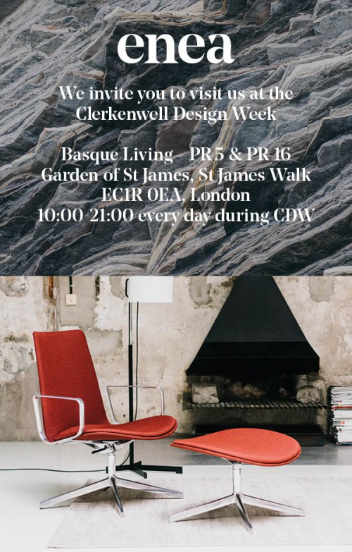 ENEA en Clerkenwell Design Week 2016 — Enea Design